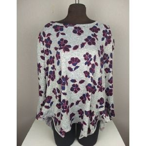 Lane Bryant Floral Tunic Sweater size 14/16